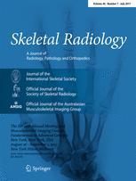 Skeletal Radiology Cover
